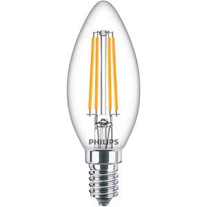 PHILIPS LED-Lampe Classic LEDcandle E14 6,5 W klar