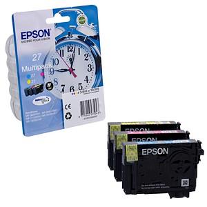 3 EPSON 27 T2705 cyan, magenta, gelb Tintenpatronen