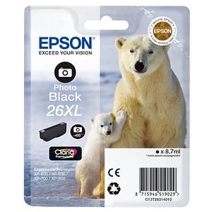 EPSON 26XL / T2631XL Foto schwarz Tintenpatrone