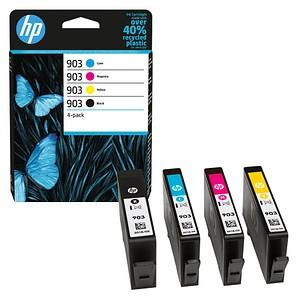 4 HP 903 (6ZC73AE) schwarz, cyan, magenta, gelb Tintenpatronen