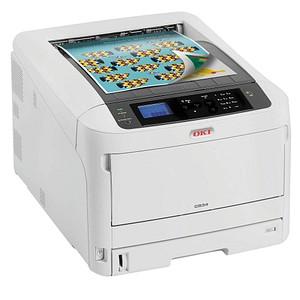OKI C834dnw Farb-Laserdrucker grau