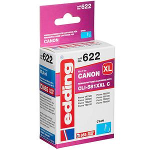 edding EDD-622 cyan Tintenpatrone ersetzt Canon CLI-581XXL C