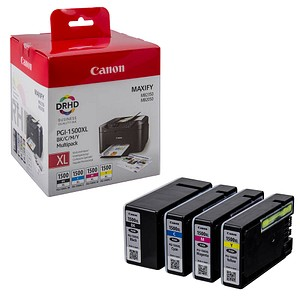 4 Canon PGI-1500 XL BK C M Y schwarz, cyan, magenta, gelb Tintenpatronen