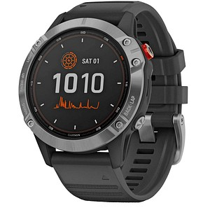 GARMIN fenix 6 Solar Smartwatch schwarz, silber