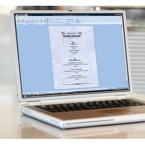 SIGEL Briefpapier Granit blau DIN A4 200 g/qm 50 Blatt