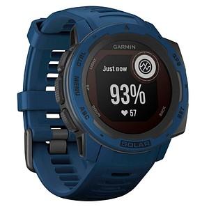 GARMIN Instinct Solar Smartwatch blau, schwarz