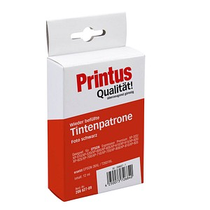 Printus   Foto schwarz Tintenpatrone ersetzt EPSON 26XL / T2631XL