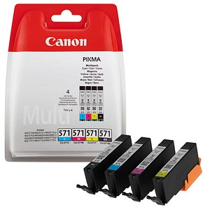 4 Canon CLI-571 BK C M Y schwarz, cyan, magenta, gelb Tintenpatronen