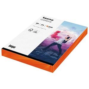 tecno Kopierpapier colors intensivorange DIN A4 80 g/qm 100 Blatt