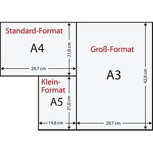 Rainbow Kopierpapier COLOURED PAPER intensivrot DIN A3 80 g/qm 500 Blatt