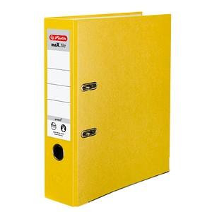 herlitz maX.file protect Ordner gelb Kunststoff 8,0 cm DIN A4