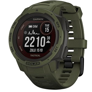 GARMIN Instinct Solar Tactical Smartwatch gr uuml n, schwarz