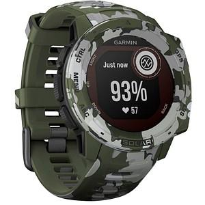 GARMIN Instinct Solar Camo Smartwatch gr uuml n, wei szlig