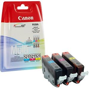 3 Canon CLI-521 C M Y cyan, magenta, gelb Tintenpatronen