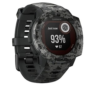 GARMIN Instinct Solar Camo Smartwatch schiefergrau