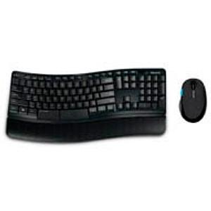 Microsoft Sculpt Comfort Desktop Tastatur-Maus-Set kabellos schwarz