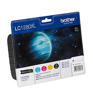 4 brother LC-1280XLBK/C/M/Y schwarz, cyan, magenta, gelb Tintenpatronen