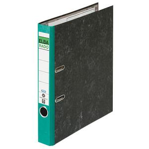 ELBA rado Wolkenmarmor Ordner grün marmoriert Karton 5,0 cm DIN A4