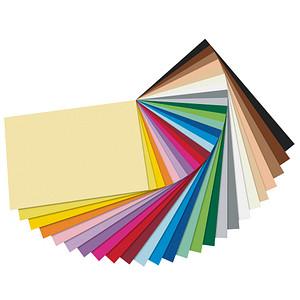 folia Tonpapier Riesen-Block farbsortiert 130 g/qm 50 Blatt