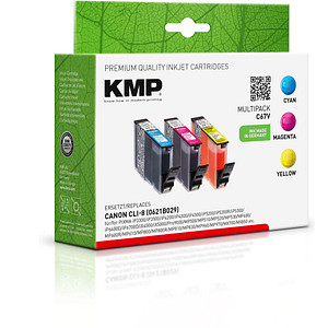 3 KMP C67V cyan, magenta, gelb Tintenpatronen ersetzen Canon CLI-8 C/M/Y
