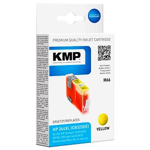 KMP H66 gelb Tintenpatrone ersetzt HP 364XL (CB325EE)