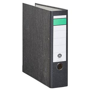 AKTION: 20 Grüner Balken Ordner schwarz marmoriert Karton 8,0 cm DIN A4
