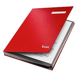 bene Unterschriftenmappe   19 Fächer rot