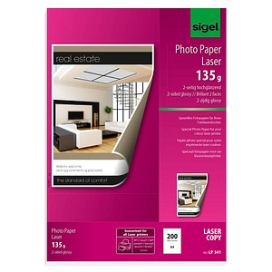 SIGEL Fotopapier LP341 DIN A4 hochglänzend 135 g/qm 200 Blatt