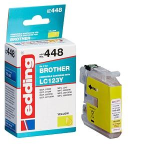 edding EDD-448 gelb Tintenpatrone ersetzt brother LC-123Y