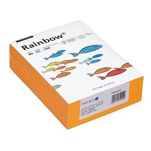Rainbow Kopierpapier COLOURED PAPER mittelorange DIN A5 80 g/qm 500 Blatt