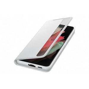 SAMSUNG Smart Clear View Cover Handy-H uuml lle f uuml r SAMSUNG Galaxy S21 Ultra grau