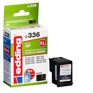 edding EDD-336 schwarz Tintenpatrone ersetzt HP 301XL (CH563EE)