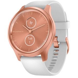 GARMIN vivomove Style Smartwatch wei szlig , r oacute segold
