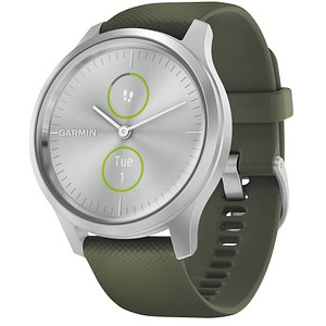 GARMIN vivomove Style Smartwatch moosgr uuml n, silber