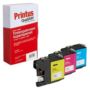 3 Printus   cyan, magenta, gelb Tintenpatronen ersetzen brother LC125XLRBWBP