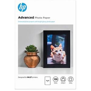 HP Fotopapier Q8692A 10,0 x 15,0 glänzend 250 g/qm 100 Blatt