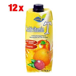 meinT Multivitamin Fruchtsaftgetränk 12x 0,5 l