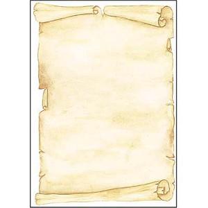 SIGEL Motivpapier Pergament Motiv DIN A4 90 g/qm 50 Blatt