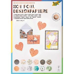 folia Motivblock Hotfoil3 farbsortiert 165 g/qm 12 Blatt