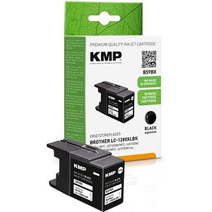 KMP B59BX schwarz Tintenpatrone ersetzt brother LC-1280XLBK