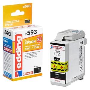 edding EDD-593 schwarz Tintenpatrone ersetzt EPSON 34XL / T3471XL