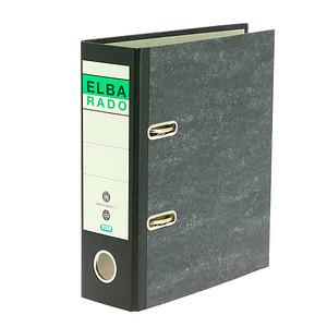 ELBA rado A5 hoch Ordner schwarz marmoriert Karton 7,5 cm DIN A5 hoch