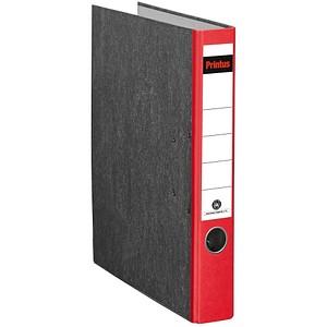 Printus Ordner rot marmoriert Karton 5,0 cm DIN A4