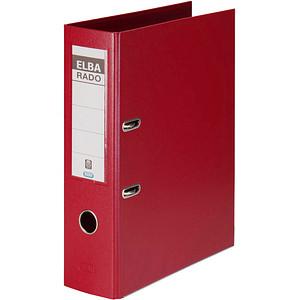 ELBA rado plast Ordner rot Kunststoff 8,0 cm DIN A4