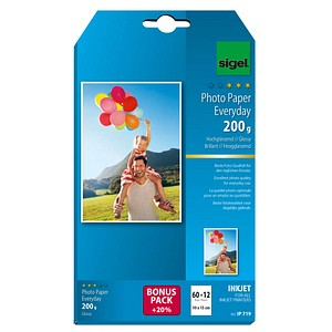SIGEL Fotopapier IP719 10,0 x 15,0 hochglänzend 200 g/qm 72 Blatt
