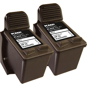 KMP H11D schwarz Tintenpatronen ersetzt HP 2x 56 (C9502AE)