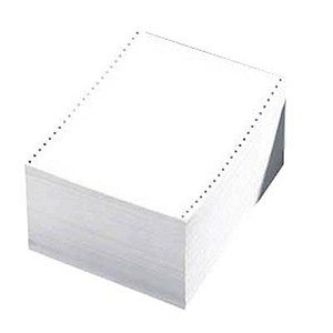 Printus Endlospapier A4 hoch 4-fach, 52 g/qm weiß 500 Blatt