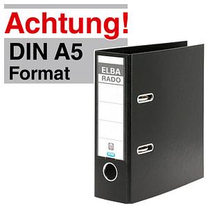 ELBA A5 Hochformat  Ordner schwarz Kunststoff 7,5 cm DIN A5 hoch