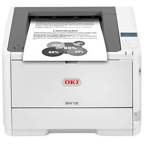 OKI B412dn Laserdrucker grau