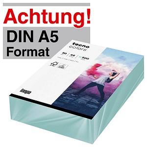 tecno Kopierpapier colors hellblau DIN A5 80 g/qm 500 Blatt
